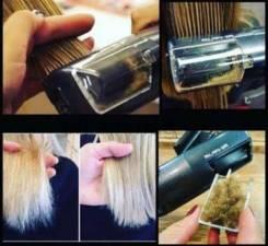 Полировка волос специальной машинкой