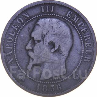 Франция 10 сантим 1856 год (иностранные монеты)