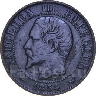 Франция 5 сантим 1854 год (иностранные монеты)