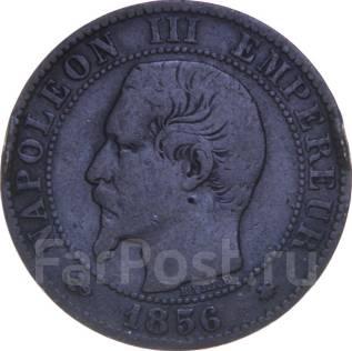 Франция 5 сантим 1856 год (иностранные монеты)
