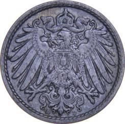 Германия 5 пфеннигов 1913 D (иностранные монеты)