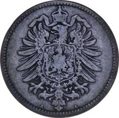 Германия 1 марка 1875 A (иностранные монеты)