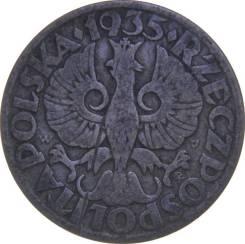Польша 5 грош 1935 год (иностранные монеты)