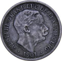 Люксембург 10 сантим 1901 год (иностранные монеты)