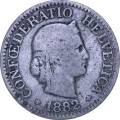 Швейцария 10 раппен 1882 год (иностранные монеты)