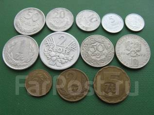Польша подборка монет без повтора, 12 шт.