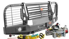 Силовой передний бампер УАЗ Хантер с лебёдкой T-MAX EW 11000 Outback