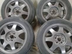 Продам отличные летние колеса 195/55-16 Dunlop на дисках Toyota. 6.5x16 5x100.00 ET45