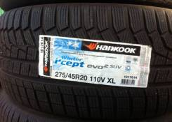 Hankook Winter i*cept Evo2 W320. Зимние, без шипов, 2017 год, без износа, 4 шт
