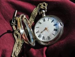 Карманные часы серебро.1825 года, двухкорпусные. Прикоснись к истории. Оригинал