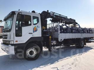 Daewoo Novus. 8 тонн c КМУ 190+ БУР 2018год, 7 640 куб. см., 8 000 кг.