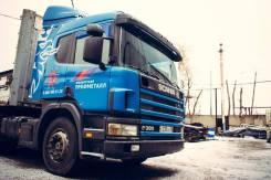 Scania P380. с полуприцепом, 12 000 куб. см., 34 000 кг.