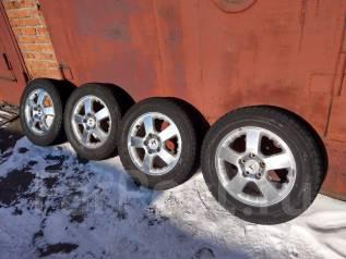 Продам комплект колес литье+зимняя резина 215 /60 R16. 6.5x16 5x114.30 ET35 ЦО 71,1мм.
