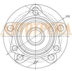 Ступичный узел FR/RR AUDI A3 03-13/SKODA OCTAVIA 04-12/YETI 10-/VW GOLF 03-08