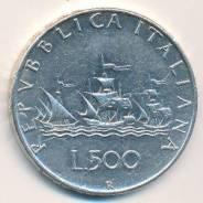 Серебро! Италия. Флот! 500 лир 1965 года в сохране. Большая красивая м