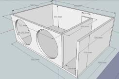 Расчет короба для сабвуфера(карта раскроя+ 3d макет)