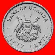 Уганда 50 центов 1976 года Редкая!