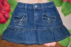 Юбки джинсовые. Рост: 104-110, 110-116, 116-122 см