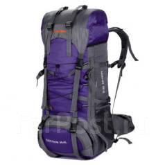 Туристический рюкзак Aeroline на 85+5 л +чехол, цвет фиолетовый