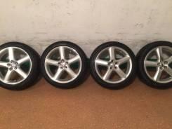 Продам комплект колес Toyota Caldina GT на 17 с зимней резиной. 7.0x17 5x100.00 ET50 ЦО 73,0мм.