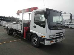 Isuzu Forward. Бортовой грузовик с манипулятором , 7 200 куб. см., 3 000 кг. Под заказ