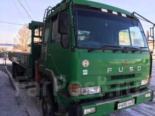 Mitsubishi Fuso. Продается бортовой грузовик с манипулятором 1996 г. в., 20 000 куб. см., 12 600 кг.