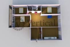 4-комнатная, улица Нейбута 51. 64, 71 микрорайоны, проверенное агентство, 82 кв.м. План квартиры