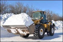 Уборка снега. Услуги фронтального погрузчика