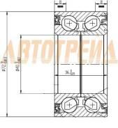 Подшипник FR ступицы SUZUKI SWIFT/LIANA ST-43440-54G02