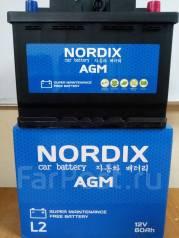 Nordix. 60 А.ч., Обратная (левое), производство Корея