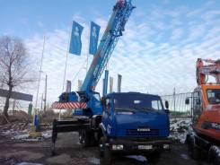 Клинцы КС-55713-1К-3. Автокран КС-55713-1К-3 шасси КамАЗ 65115-62, б/у (2013 г. в,10 000 км), 12 000 куб. см., 25 000 кг.