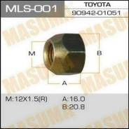 Гайка колёсная Toyota 12x1.5, под ключ=21 (открытая)