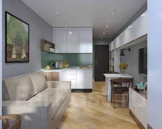 1-комнатная, улица Войсковая 1. Индустриальный, частное лицо, 12 кв.м. Дизайн-проект