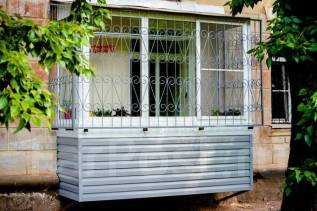 Расширение балкона. Пластиковые окна. Остекление лоджий