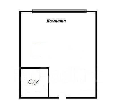 Гостинка, улица Липовая 2. Чуркин, 18кв.м. План квартиры