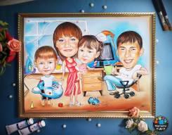 Рисую портреты и шаржи на заказ
