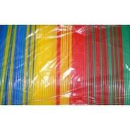 Трубочки кокт. 0,5*24 см. 1000 шт/уп. цветные прямые/12/ 5241000цп