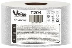 Туалетная бумага 2-х сл.170 м. в рулоне Viero Professional Comfort d=19см,h=9.5см, втулка 6 см 1/12 Т204