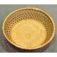 Корзина для хлеба круглая 23х6 см. корич. 142003