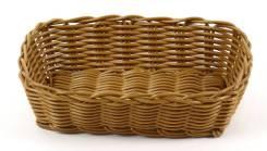 Корзина для хлеба 21х14,5х6см прямоугольная пласт.коричневая кт1912