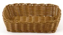Корзина для хлеба 24,5х16,5х6см прямоугольная пласт.коричневая кт1914