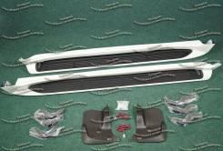 Подножки с подсветкой Lexus LX570 /Лексус/ 07-15гг. белые перл. - 070