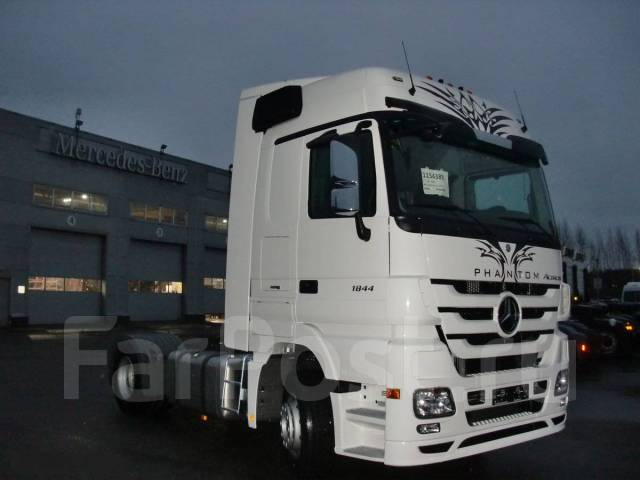 Mercedes-Benz Actros. Немецкий Тягач MB Actros 1844LS Megaspace, 12 000 куб. см., 18 000 кг.