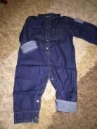 Комбинезоны джинсовые. Рост: 80-86, 86-92, 92-98 см