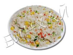 Рис с кукурузой и яйцом