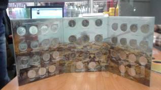 Памятные монеты 5 и 10 руб посвящённые 70 лет ВОВ в альбоме
