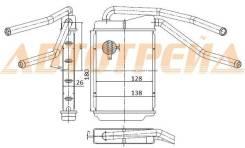 Радиатор отопителя. Daewoo Nexia, KLETN Двигатели: A15MF, G15MF