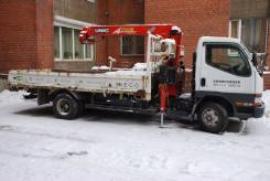 Mitsubishi Canter. Продаётся бортовой грузовик с манипулятором , 3 900 куб. см., 3 500 кг.