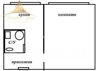 1-комнатная, улица Ольховая 17. Чуркин, проверенное агентство, 33кв.м. План квартиры