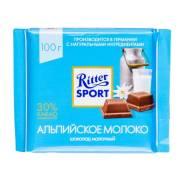 Шоколад Риттер Спорт Альпийское Молоко 100гр. 1уп.х 12шт